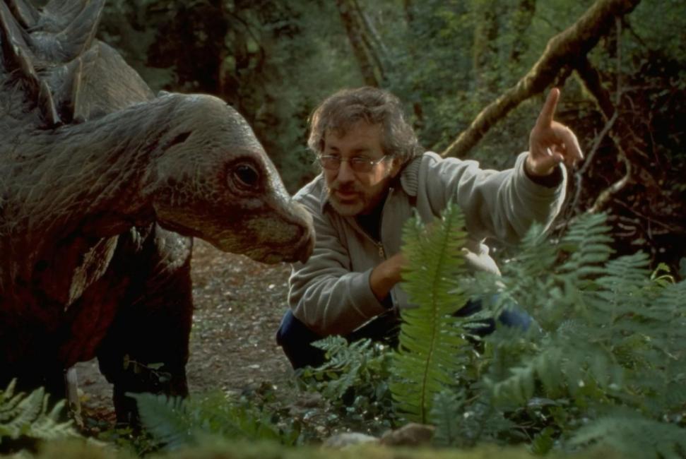 Стивен Спилберг и динозавры. Съемки фильма Парк Юрского периода.