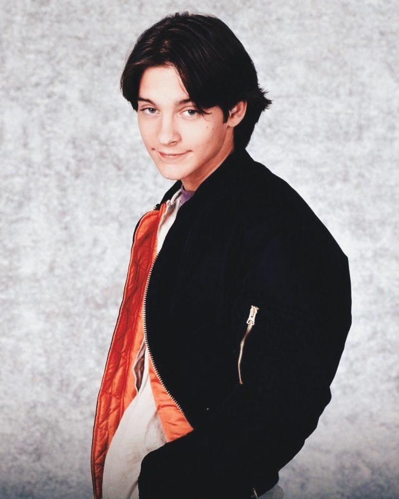 Актер Тоби Магуайр в молодости.