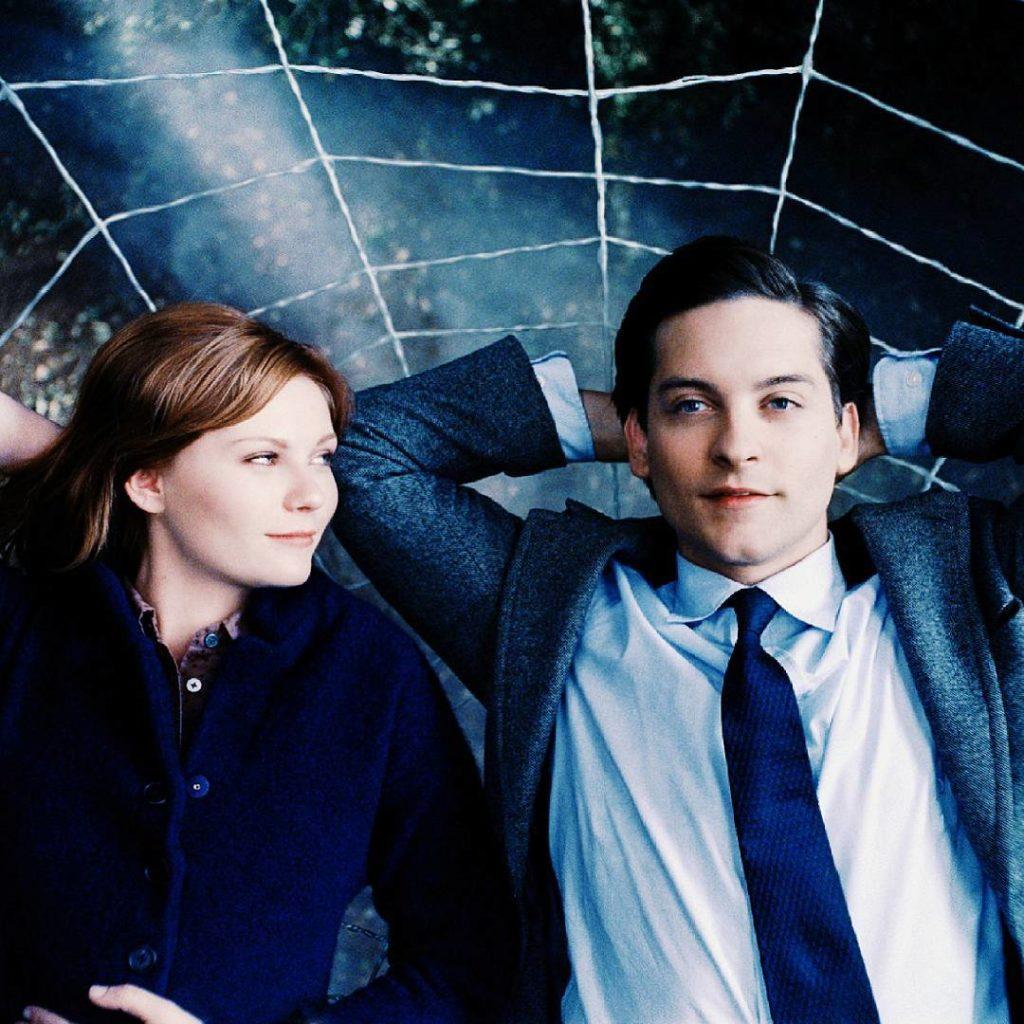 Кристен Данст и человек-паук. Кадр из фильма.