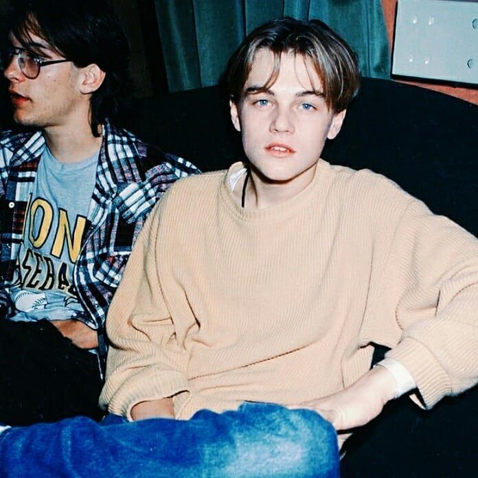 Актер Тоби Магуайр с Ди Каприо в молодости.
