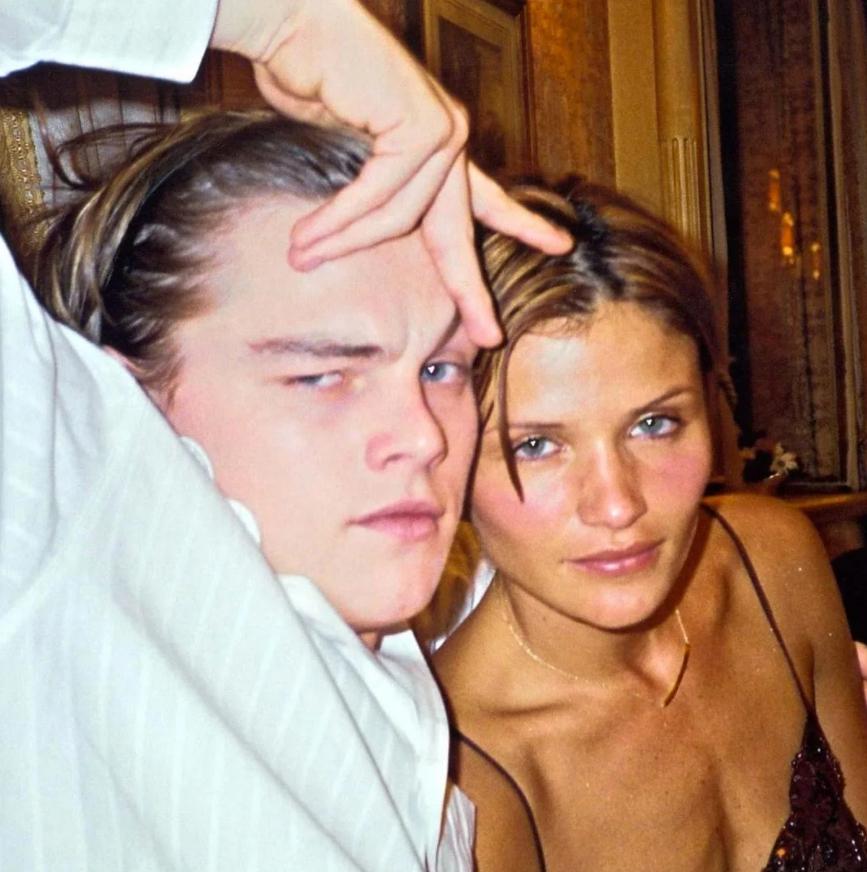 актер Леонардо Ди Каприо (Leonardo DiCaprio) и его первая любовь фотомодель Хелена Кристенсен.