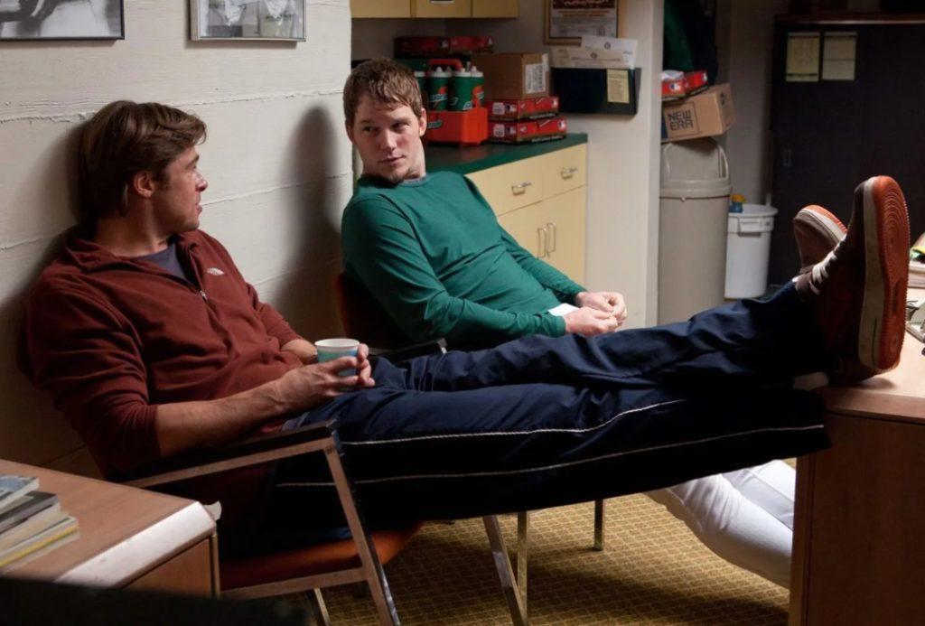 Актер Крис Прэтт (Chris Pratt) и Брэд Питт.