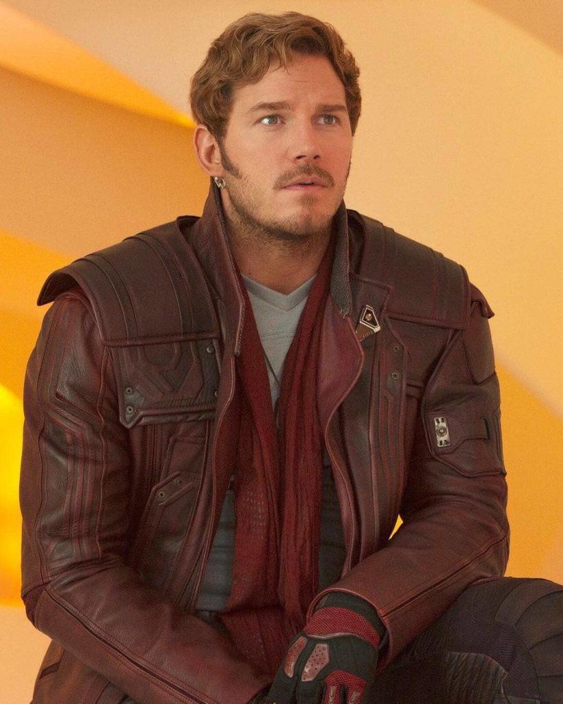 Актер Крис Прэтт (Chris Pratt). Питер Квилл, Звездный Лорд в кожаной куртке.