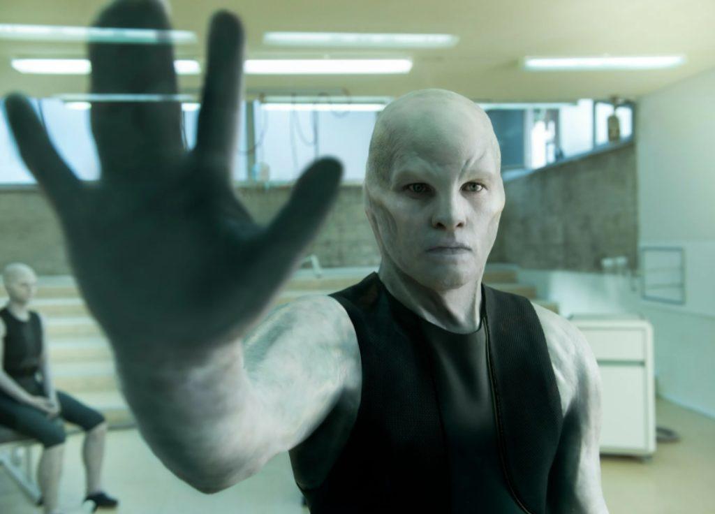 Актер Сэм Уортингтон в гриме.
