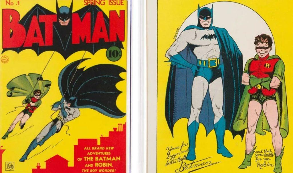 Первый комикс Бэтмен и Робин