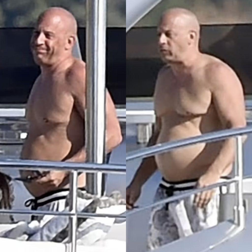 Вин Дизель располнел. С голым торсом на яхте.
